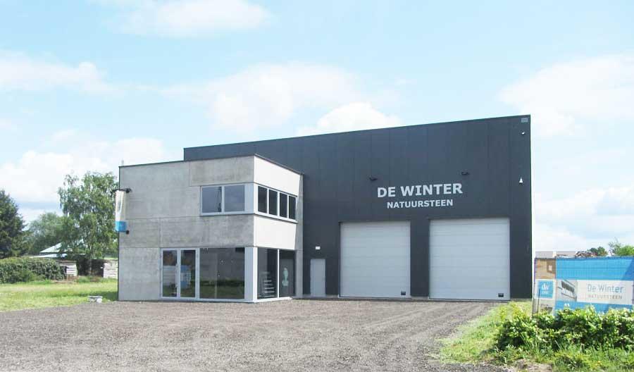 De-Winter-Natuursteen-gebouw