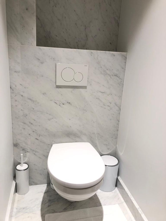 Badkamer in marmer Carrara C extra