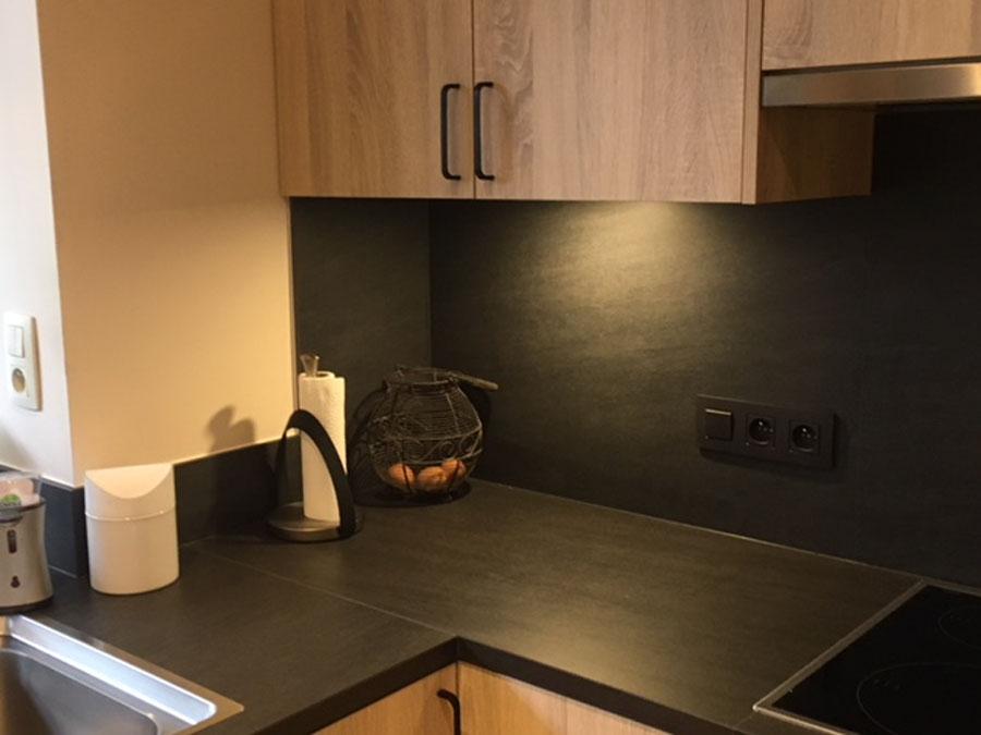 Keukenwerkbladen in keramiek Neolith Basalt black, randafwerking in verstek