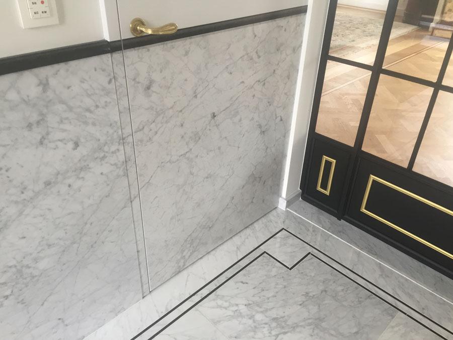 Project in marmer Carrara C extra poli