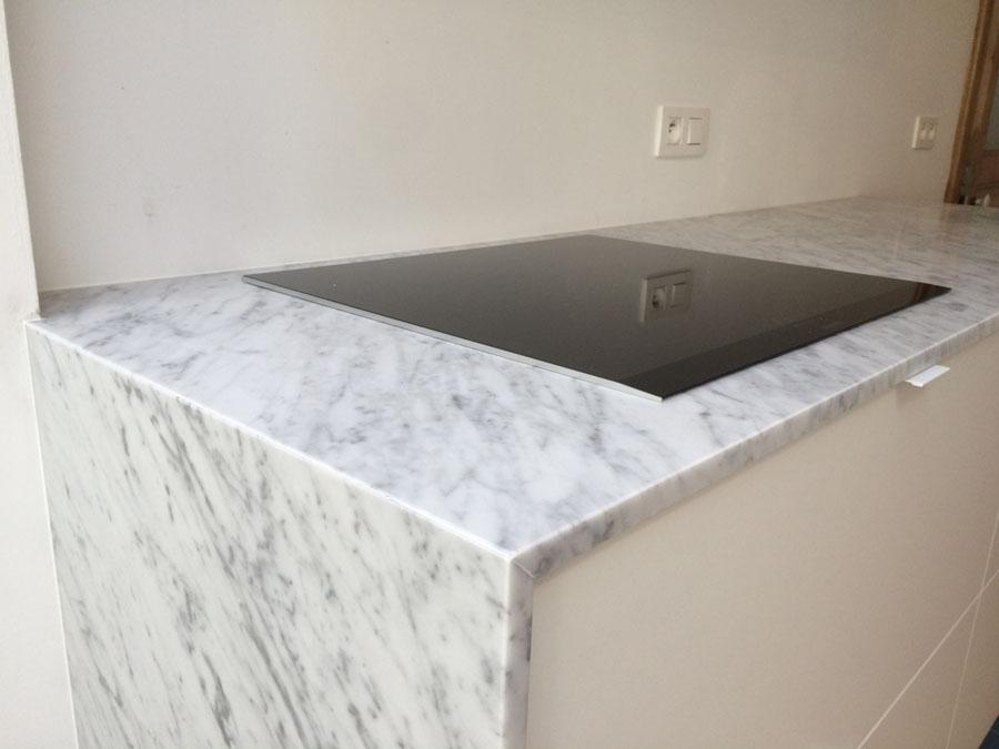 Keuken in marmer Carrara C verzoet